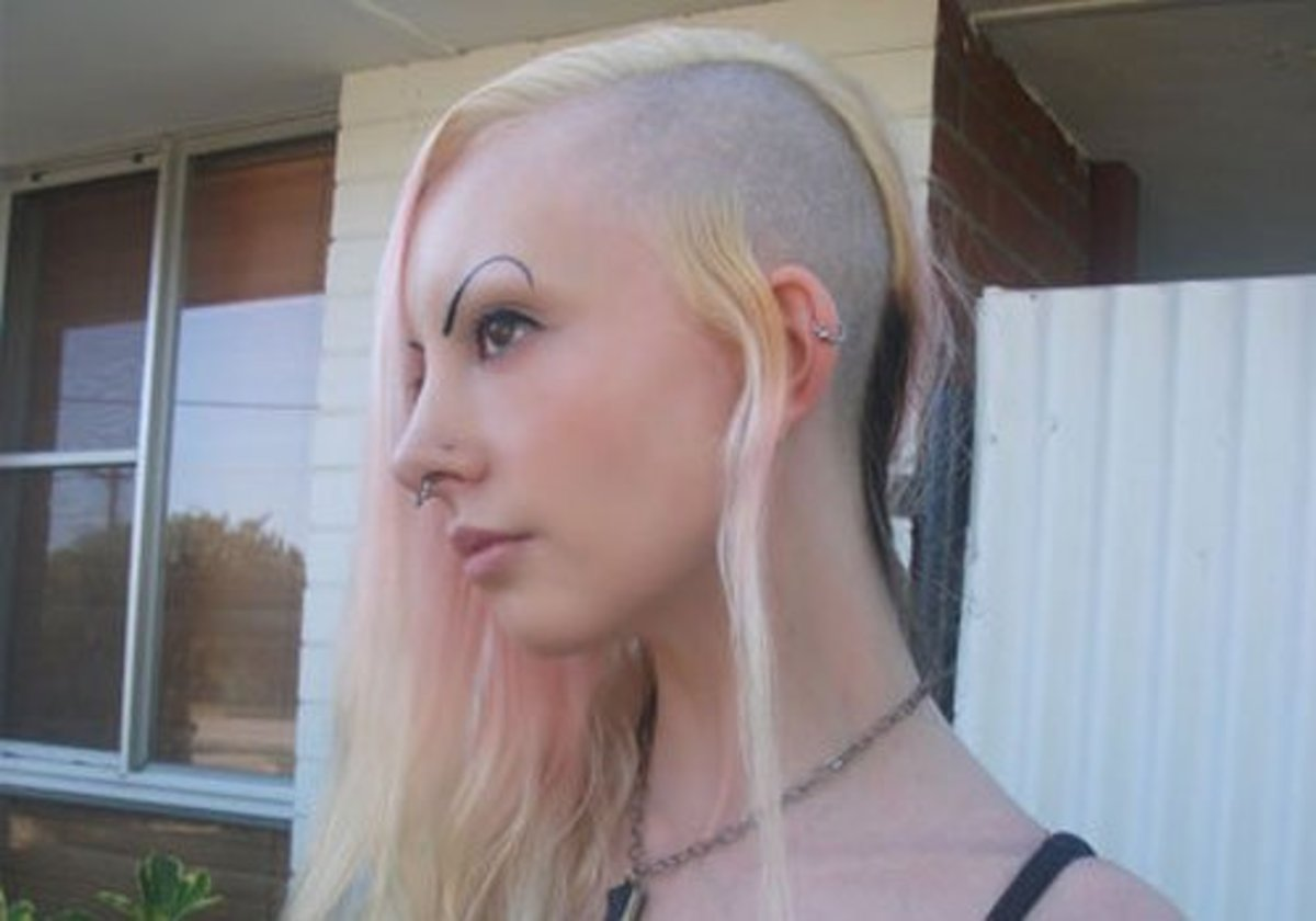 That little bit of hair there? Probably just a punk chick. (Though there are queer punks.)