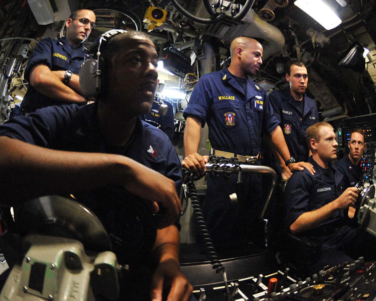 A submarine control room