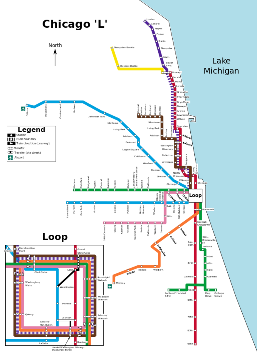 Chicago L Train Route Maps