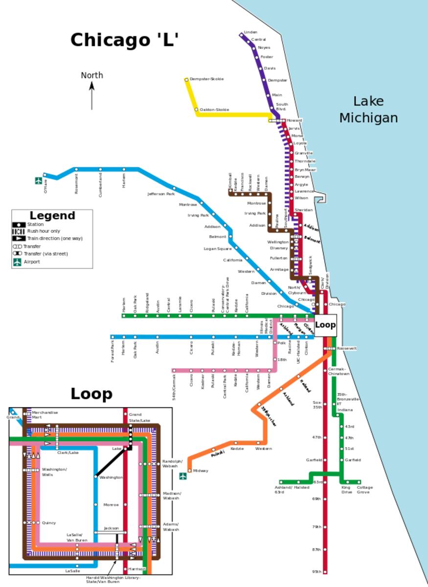 Chicago L Train Route Maps