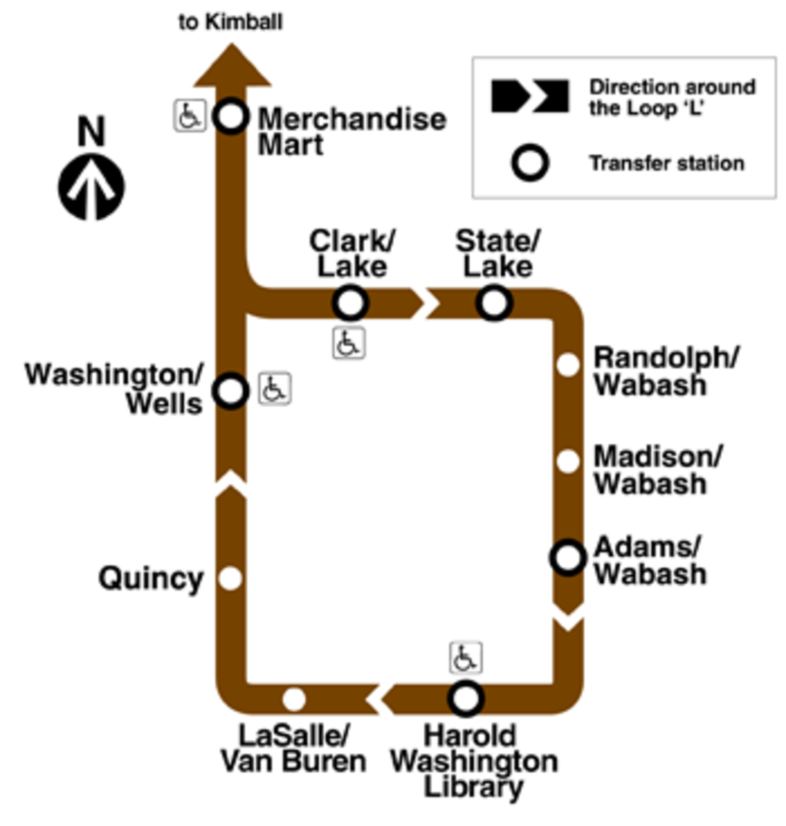 Brown Line Map