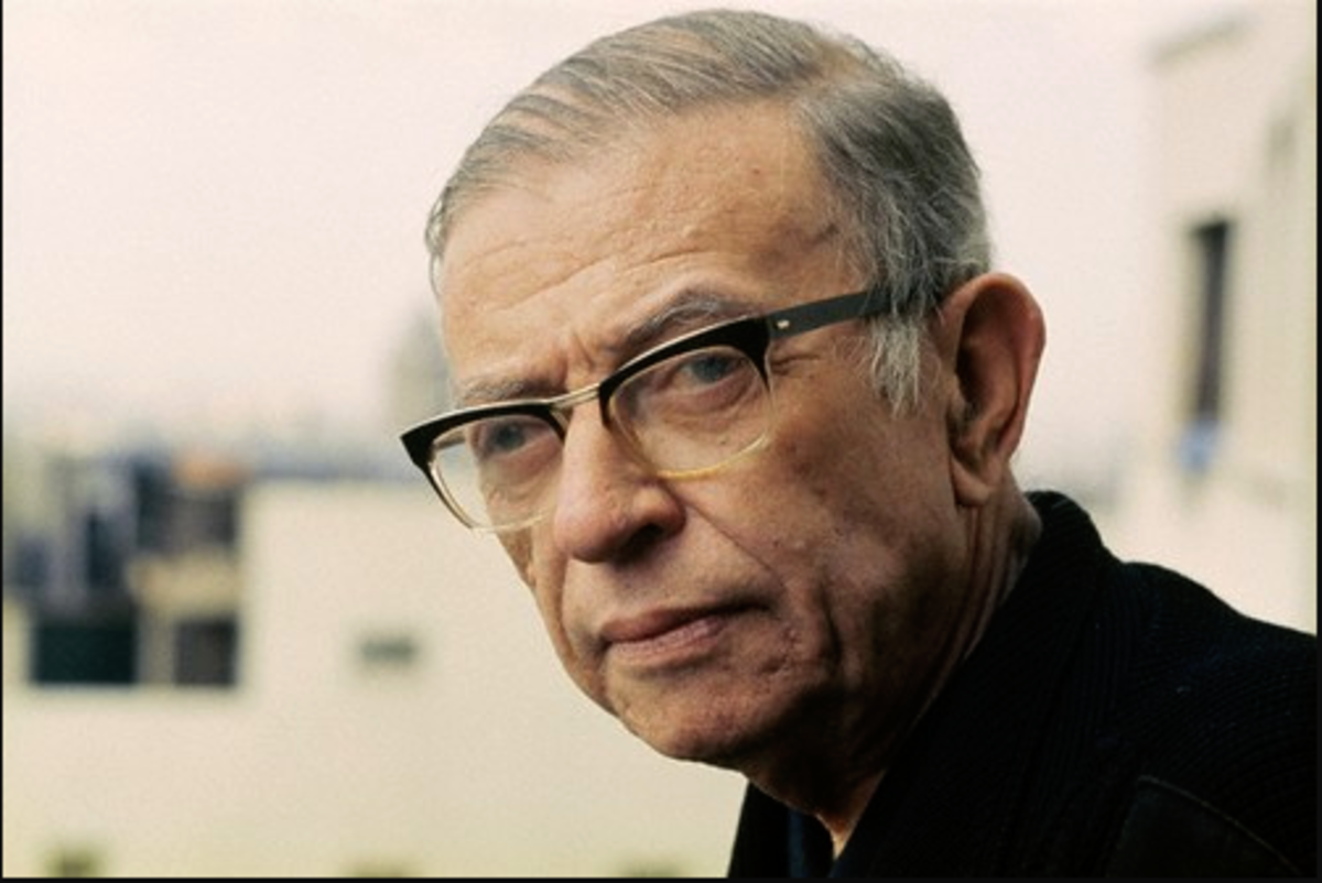 """A celebrated novelist, Sartre declined the Nobel Prize positing a belief that a writer should """"...refuse to let himself be transformed into an institution, even if this occurs under the most honorable circumstances."""""""