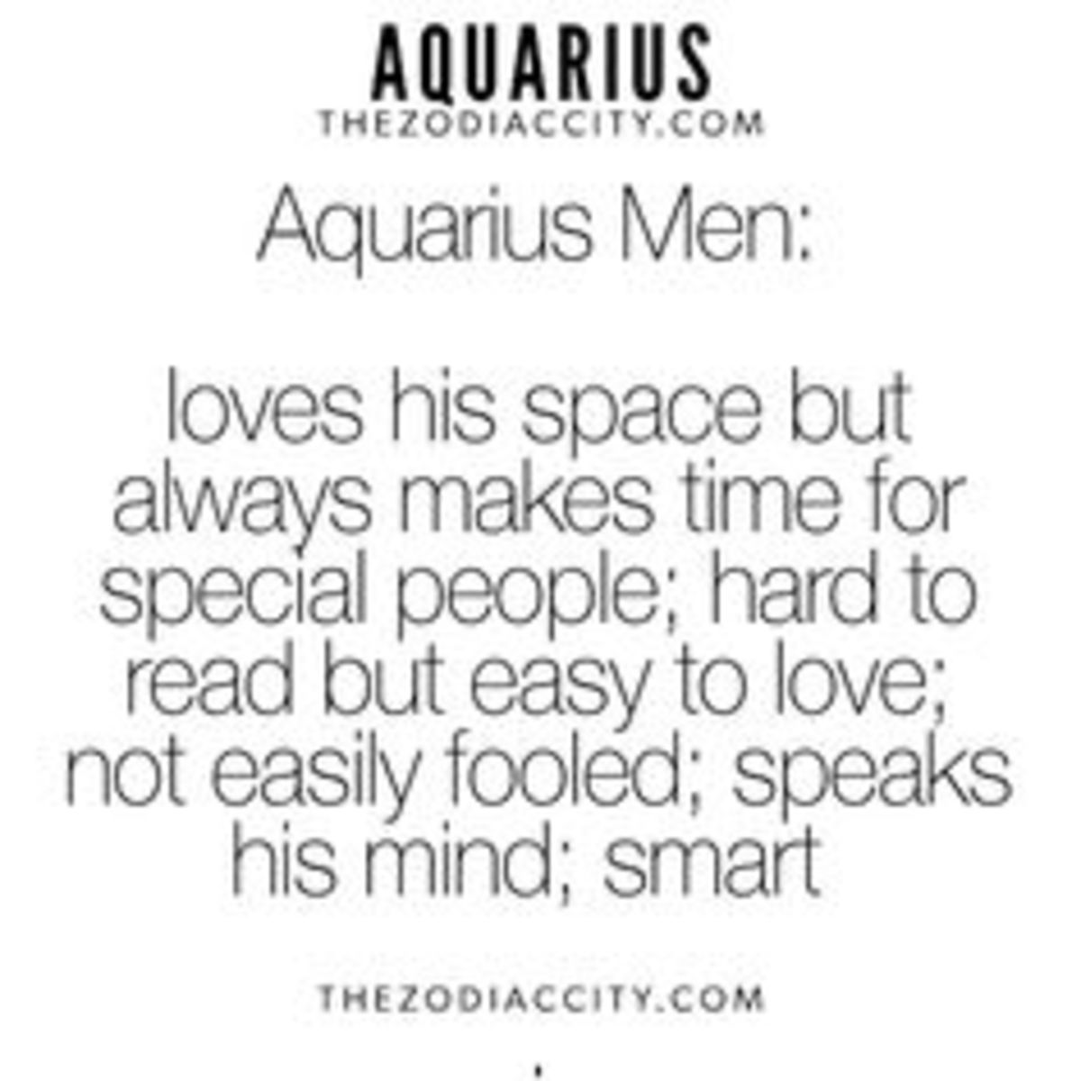 Dating an aquarius male