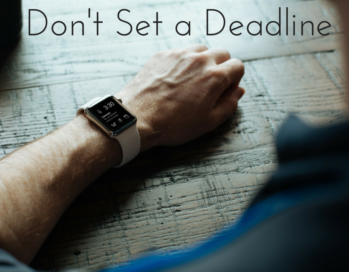 No-contact mistake #4: Don't set a deadline.