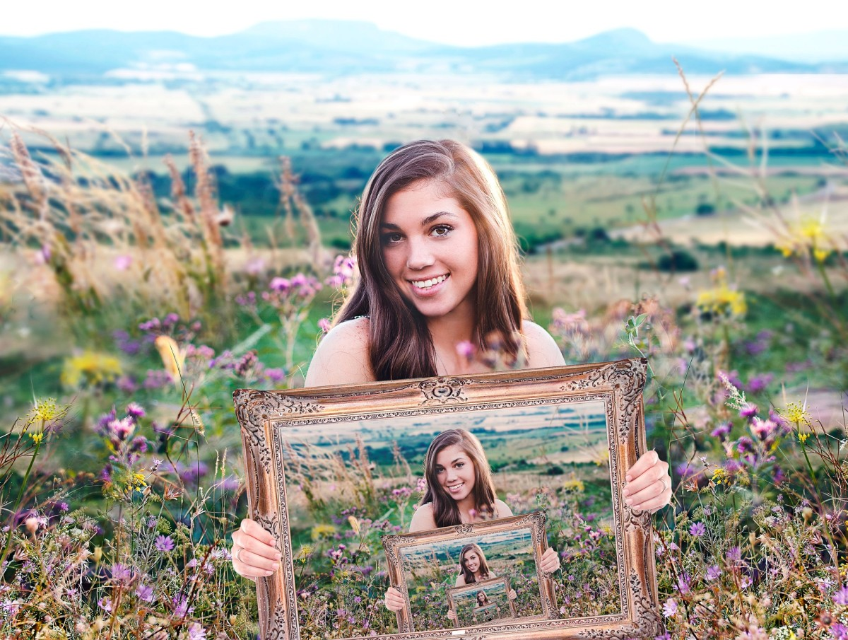 Your boyfriend's ex is so perfect that she has a painting of herself holding a painting of herself, holding a painting of herself...
