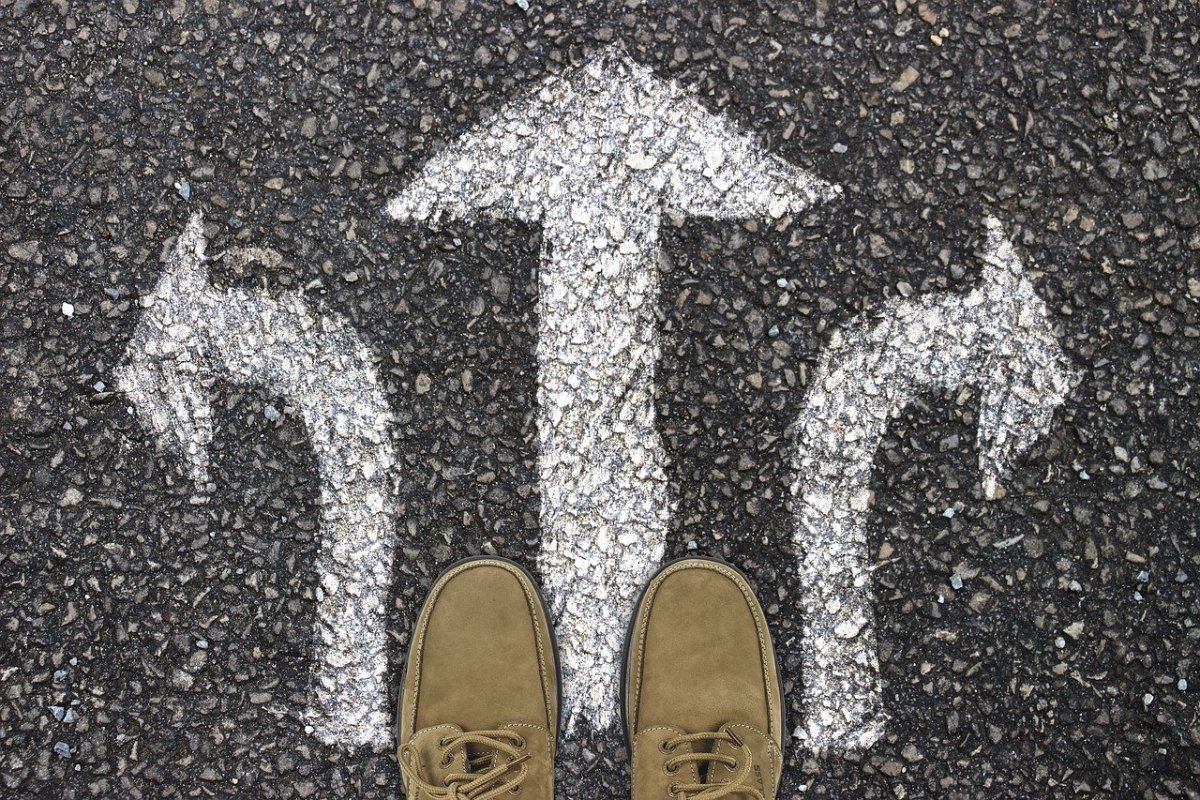 We all have choices to make. It's up to you which path you want to follow!