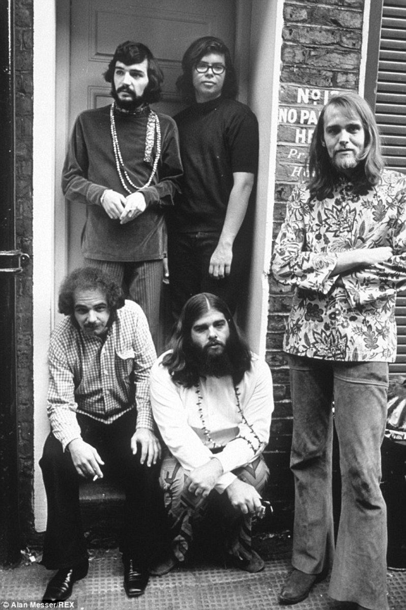 "Alan ""Blind Owl"" Wilson (upper right) with Canned Heat"
