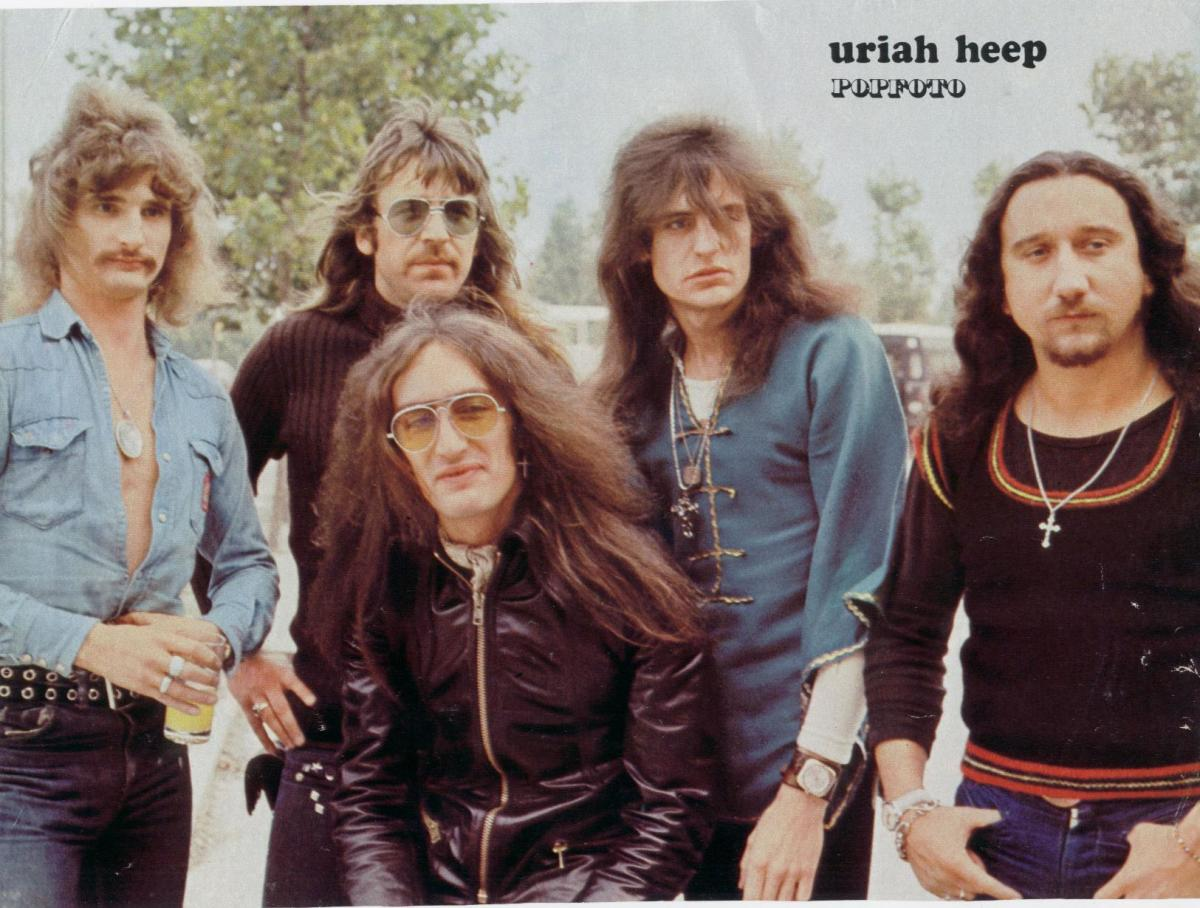 Gary Thain (second from right) with Uriah Heep