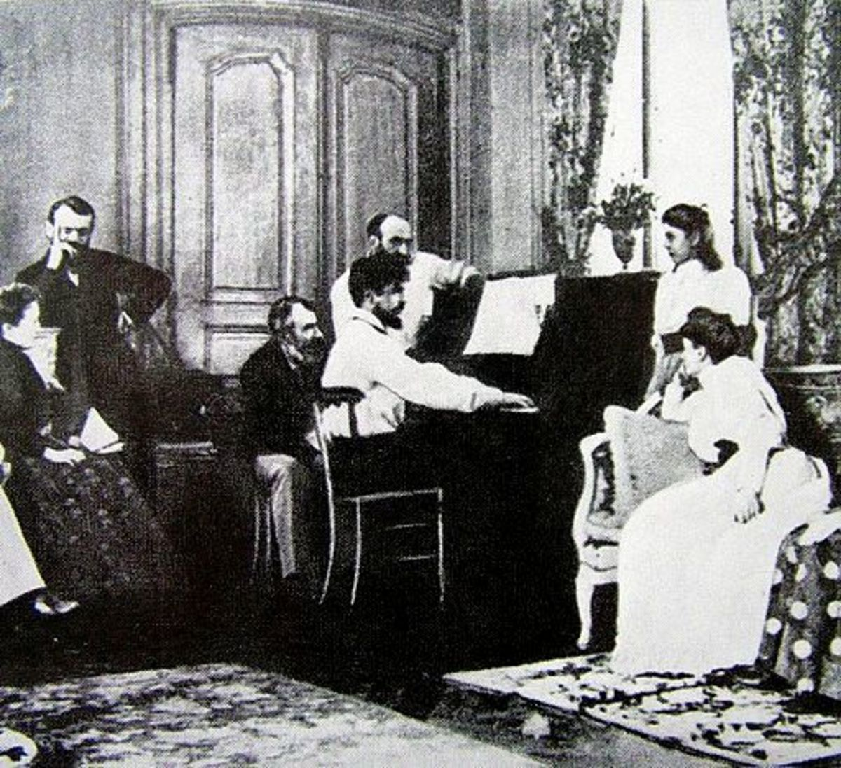 Playing in front of composer, Ernest Chausson