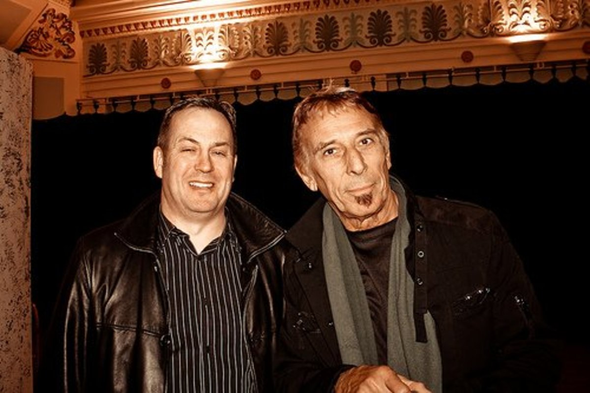 John Cale (on right),The Miner's Theatre, Ammanford