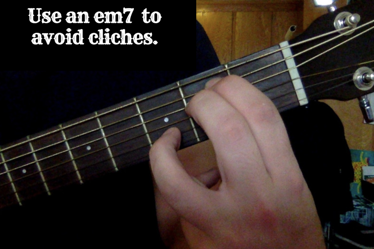 Using an em7 can help you avoid cliches in your song writing.