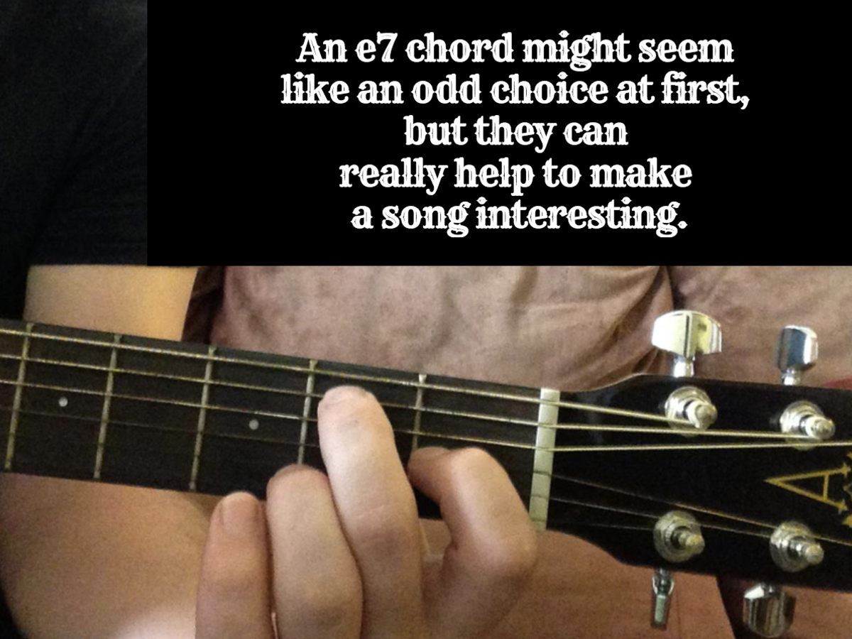 An e7 chord can really help to make a song more interesting.