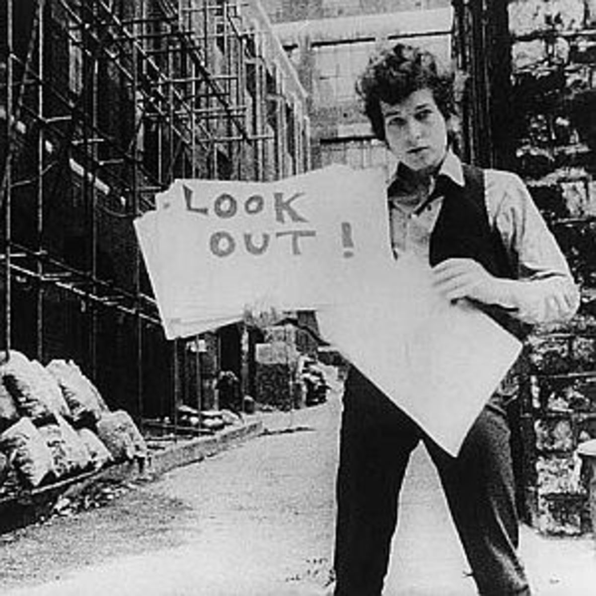 "Bob Dylan from ""Subterranean Homesick Blues"". These are some of the best lyrics ever written."