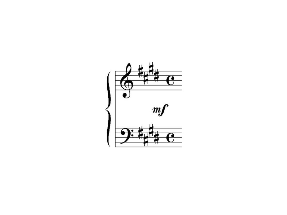 Key signature    with four sharps