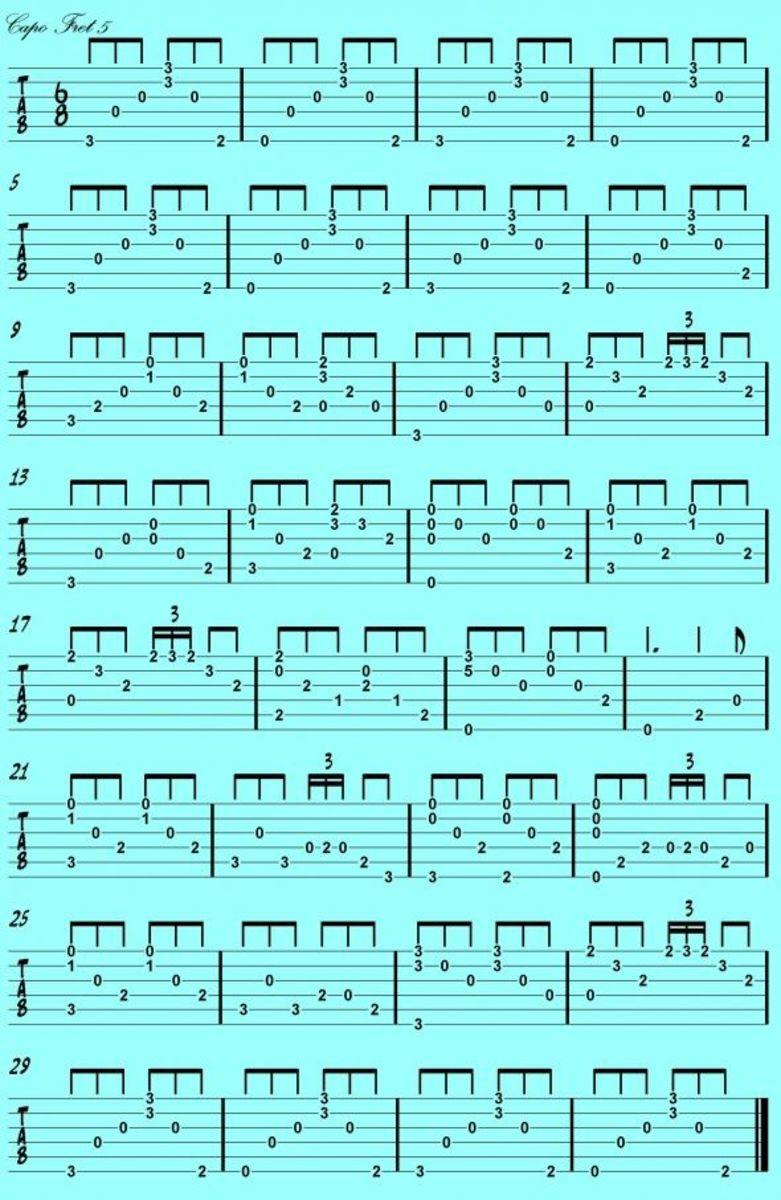 Guitar study in Jeff Buckley style