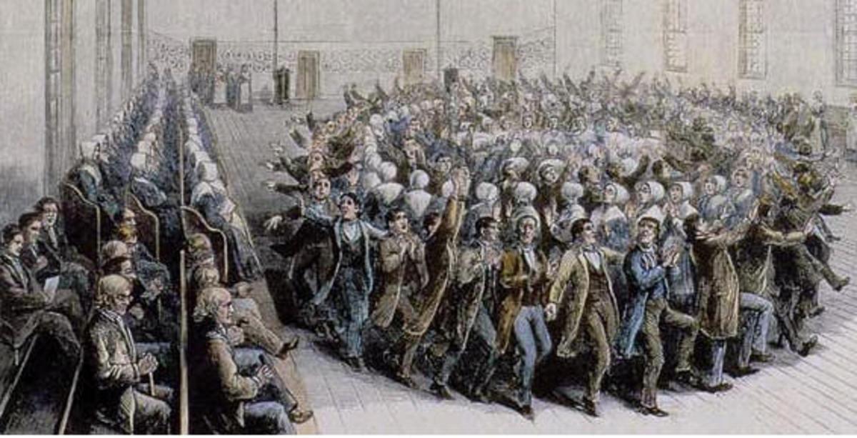 A Shaker dance. Image Wikipedia