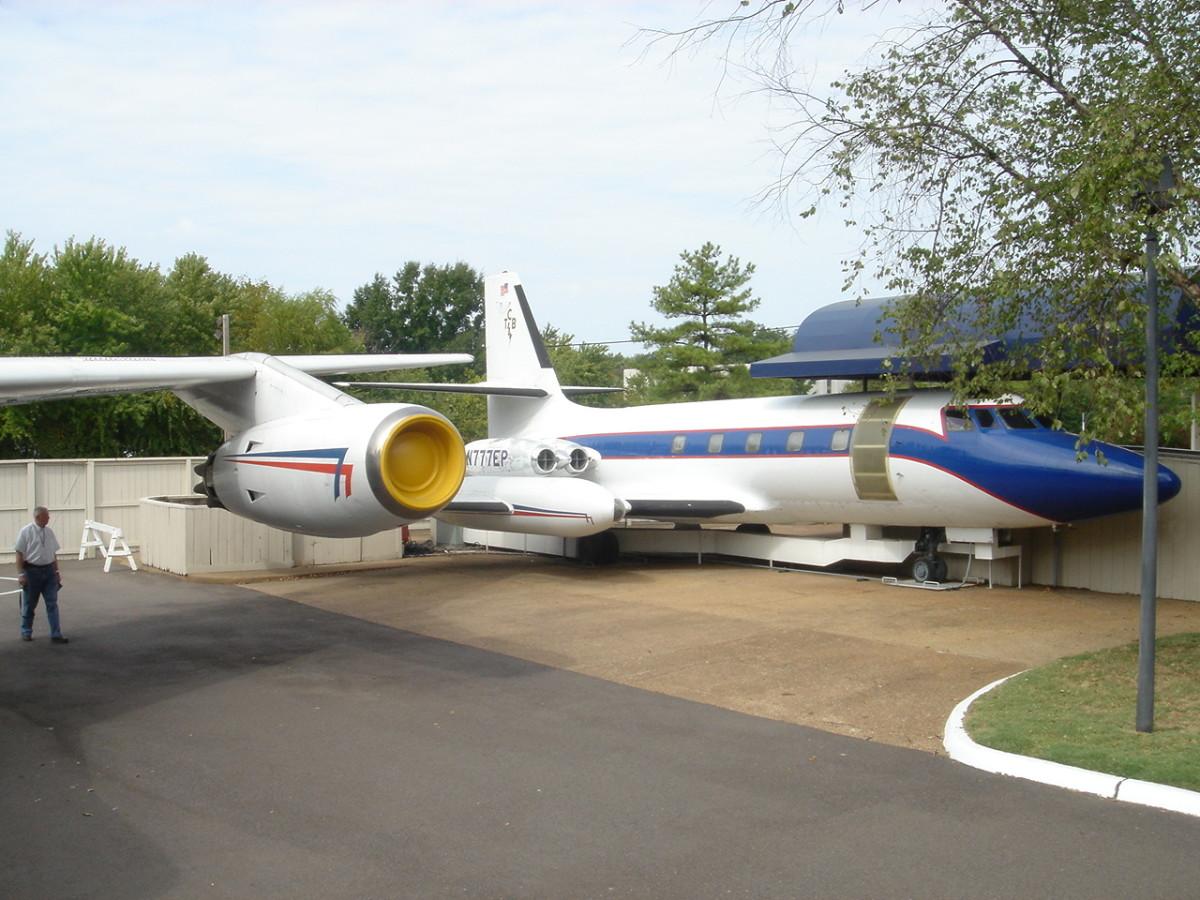Elvis' Lockheed JetStar on display at Graceland