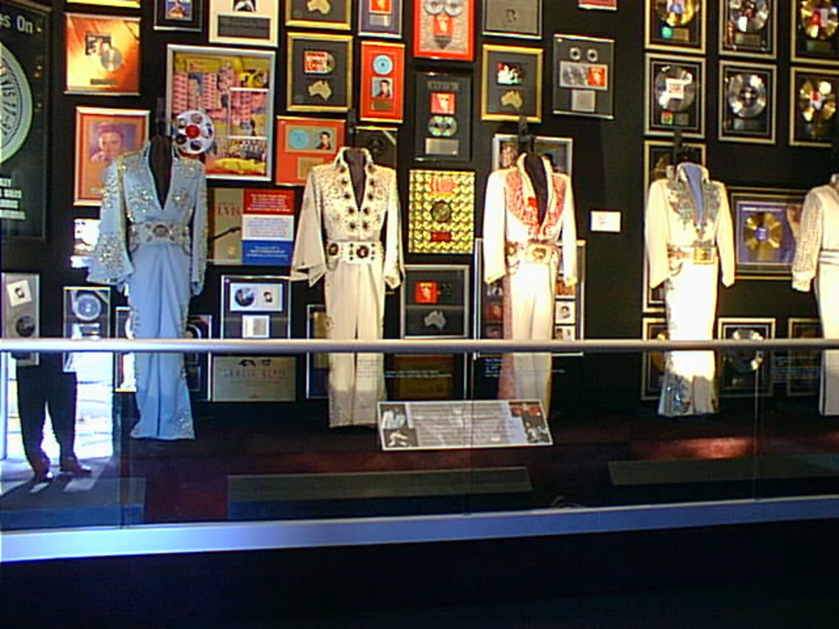 These are the actual costumes Elvis wore when performing on stage