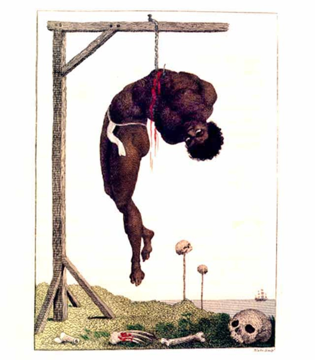 William Blake's frightful image of the effect of slavery on an individual. Image from Wikipedia