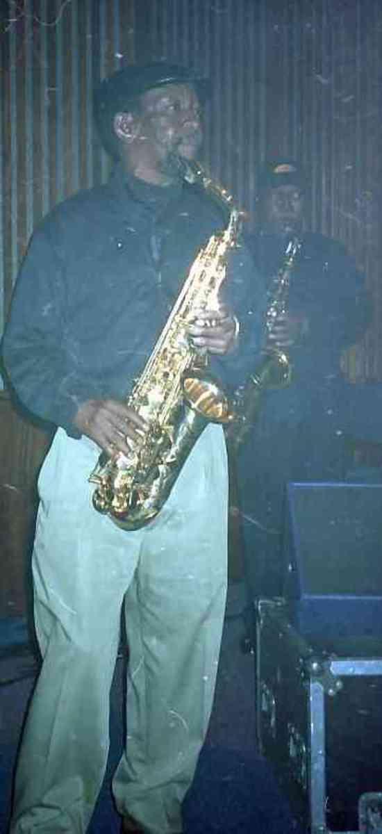 Barney Rachabane, South African alto player (Photo Tony McGregor)