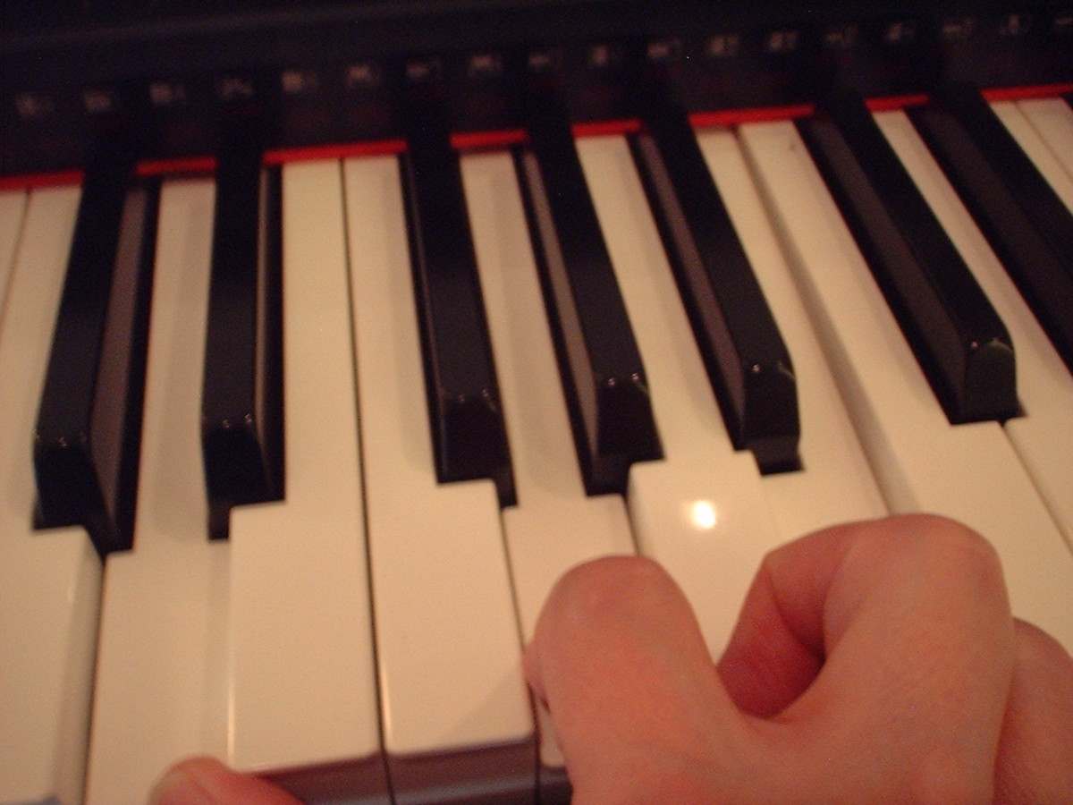 Ditto on the above Disclaimer about hand position.  This is not intended to demonstrate anything other than the keys that are being played.