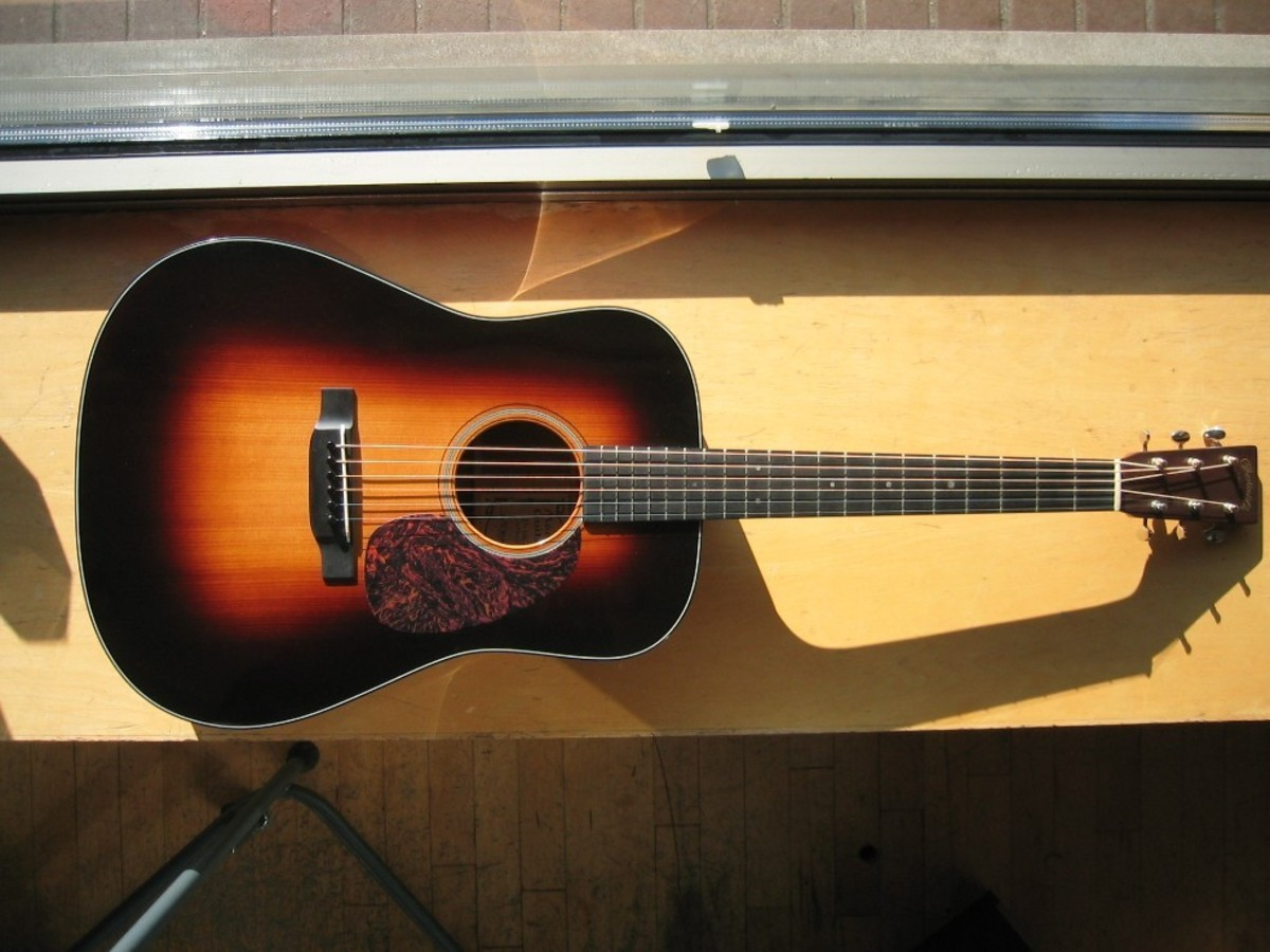 A beautiful sunburst top on a Martin D-18.