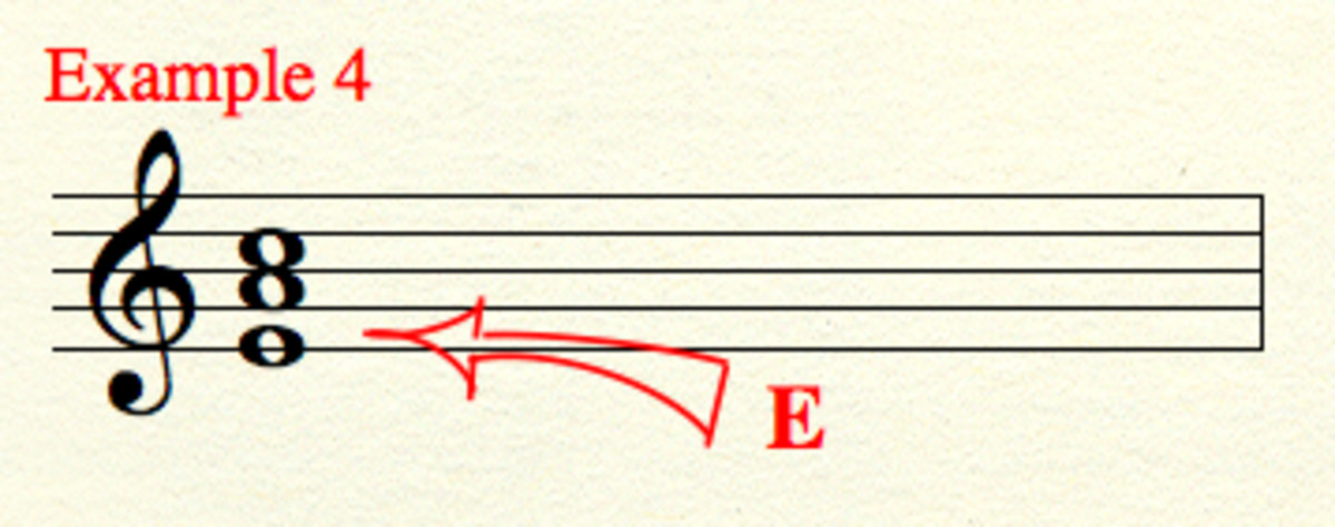 "A different ""E,"" an ""octave"" lower than seen in the previous examples."