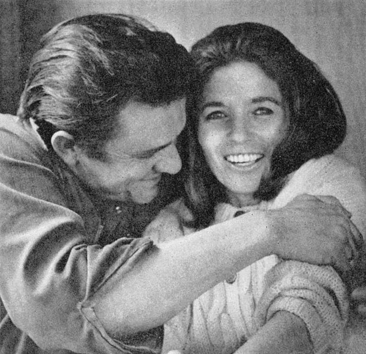 "Johnny and June during healthier times.  Their turbulent romance which began when they were both married to others is the stuff of legend.  Some people believe that it was the death of June that prompted the early death of a ""broken hearted"" Johnny."