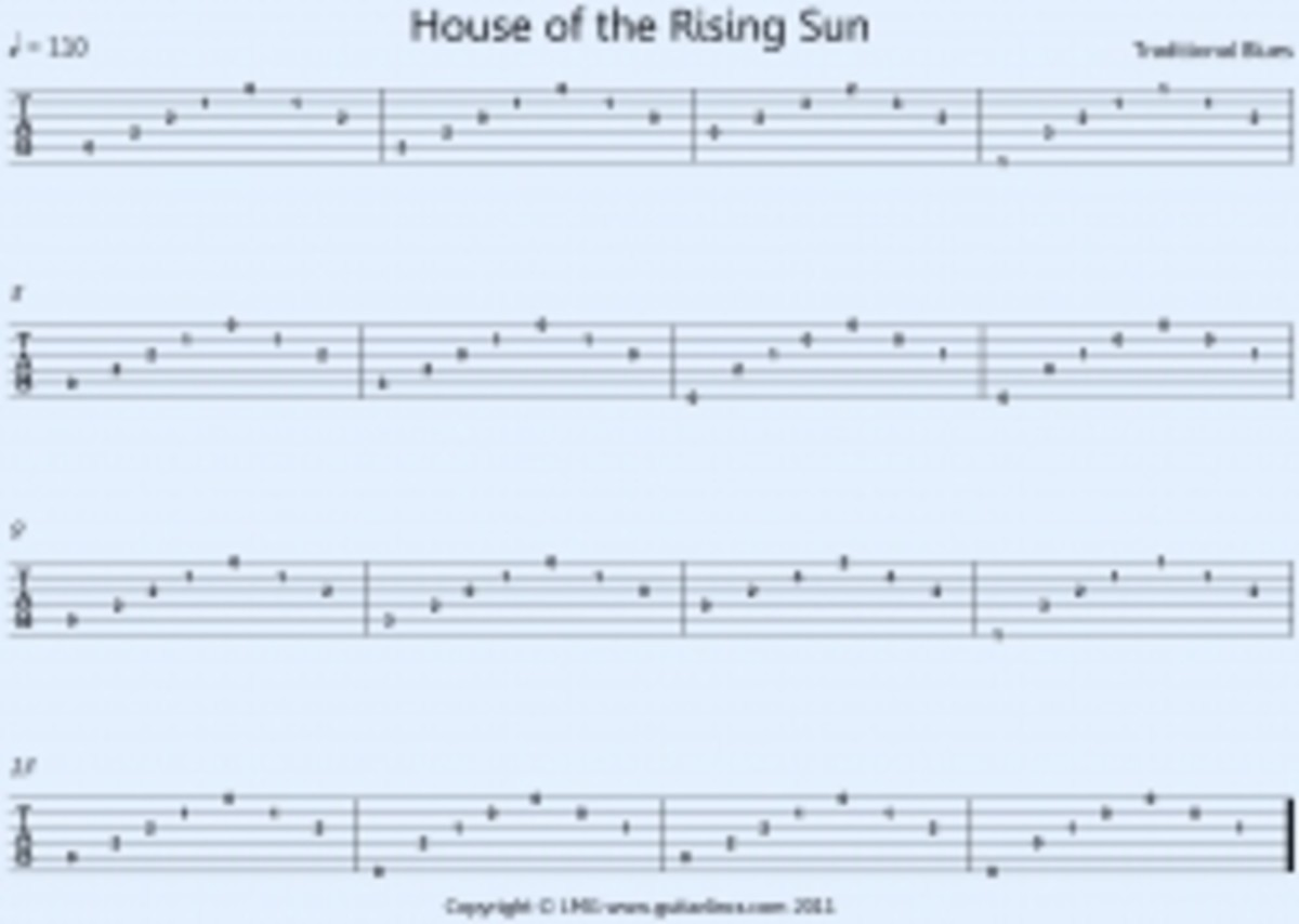House of the Rising Sun TAB