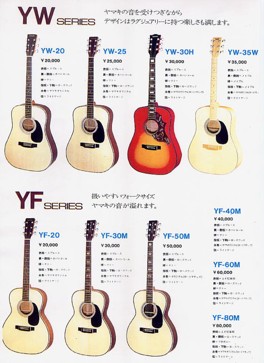 Yamaki Guitar Identification Guide - An Old Advert.