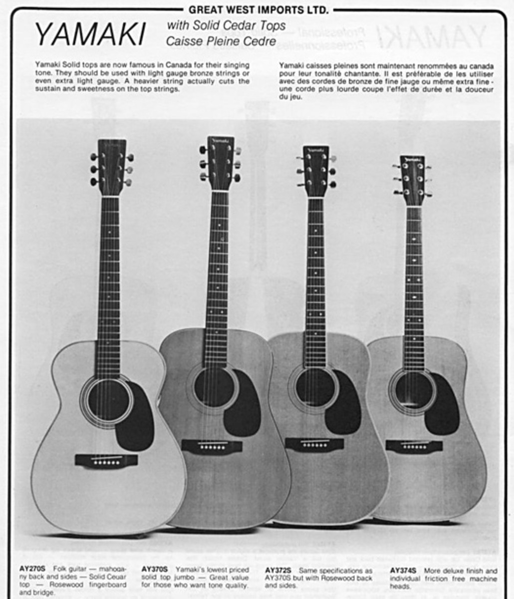 You may wish to dowload this image, and then blow it up to read it - further help towards identifying a Yamaki guitar's specifications