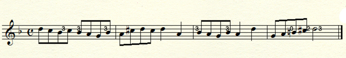 Example in D minor