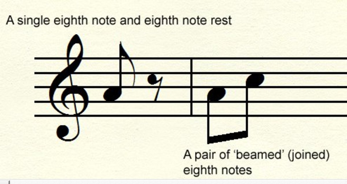 8th notes and rest