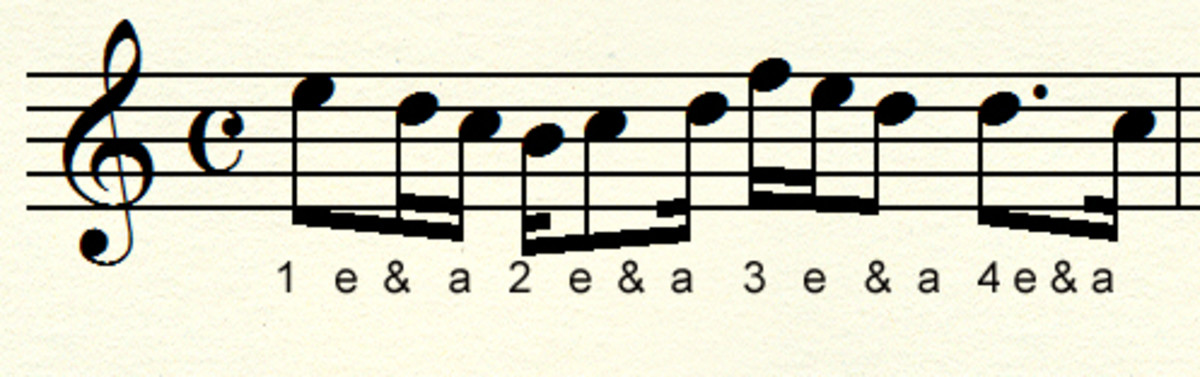 Counting sixteenth and eighth notes