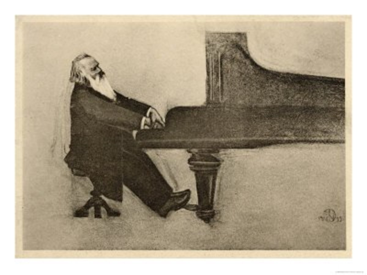 "A sketch of Johannes Brahms, one of the all-time most ""awesome musicians."""