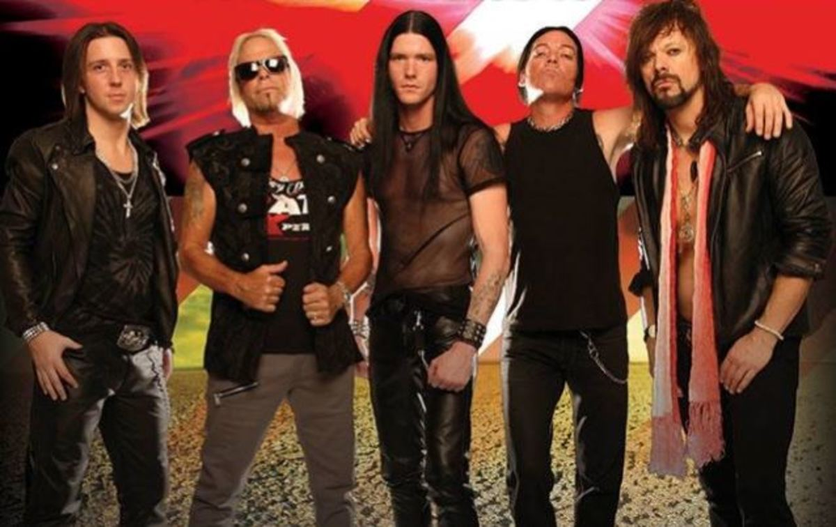 Meet the NEW Ratt, featuring Bobby Blotzer (second from left) and.... ummm... some other guys!!