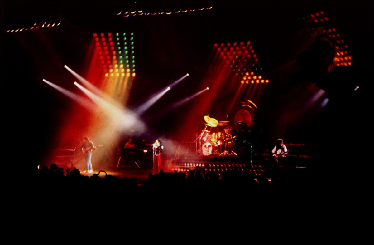Queen live in concert in 1982.  Just over 4 years later, Freddie Mercury would make his last live performance with Queen.