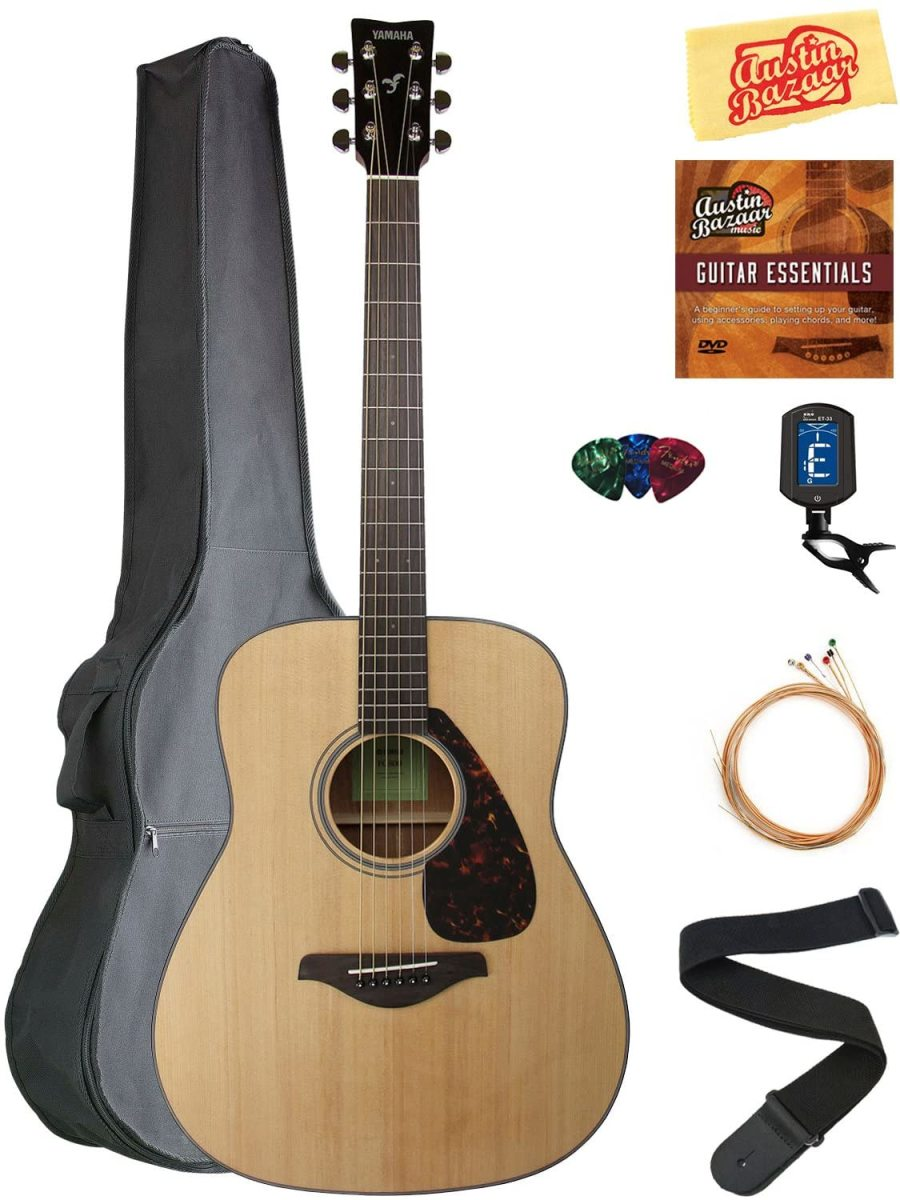 The Yamaha FG800 Solid Top Folk Acoustic Guitar.