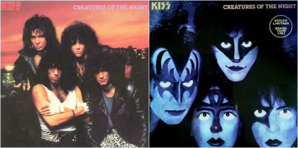 "Left: 1985 reissue cover / Right: Bootleg ""Brazlian Promo"" version w/Vinnie Vincent in Ace's spot"