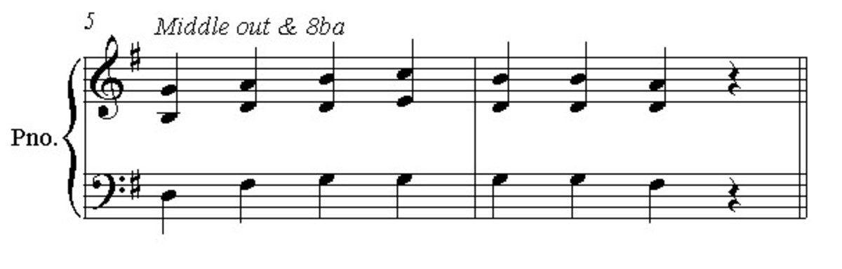 Move the middle note down one octave