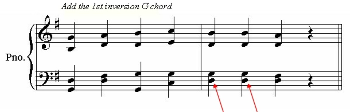 Add some simple chord inversions for variety