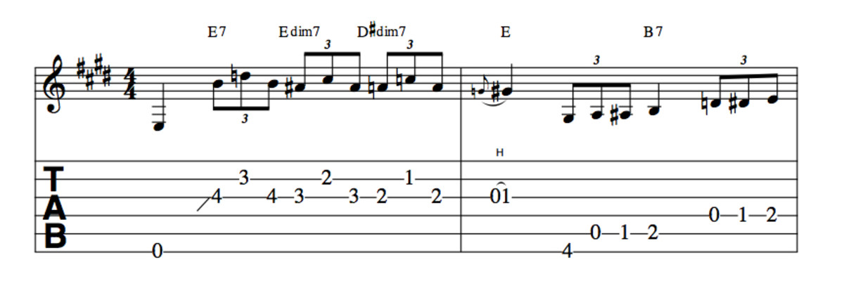 Blues Guitar Lessons—13 Blues Turnarounds In E   Spinditty