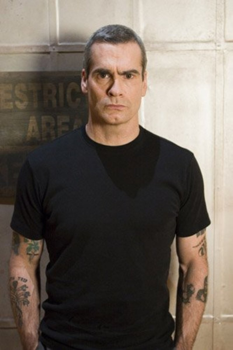 Henry Rollins, best known for being the vocalist and front man for the band Black Flag, as well as generally being a total badass, even at 51.