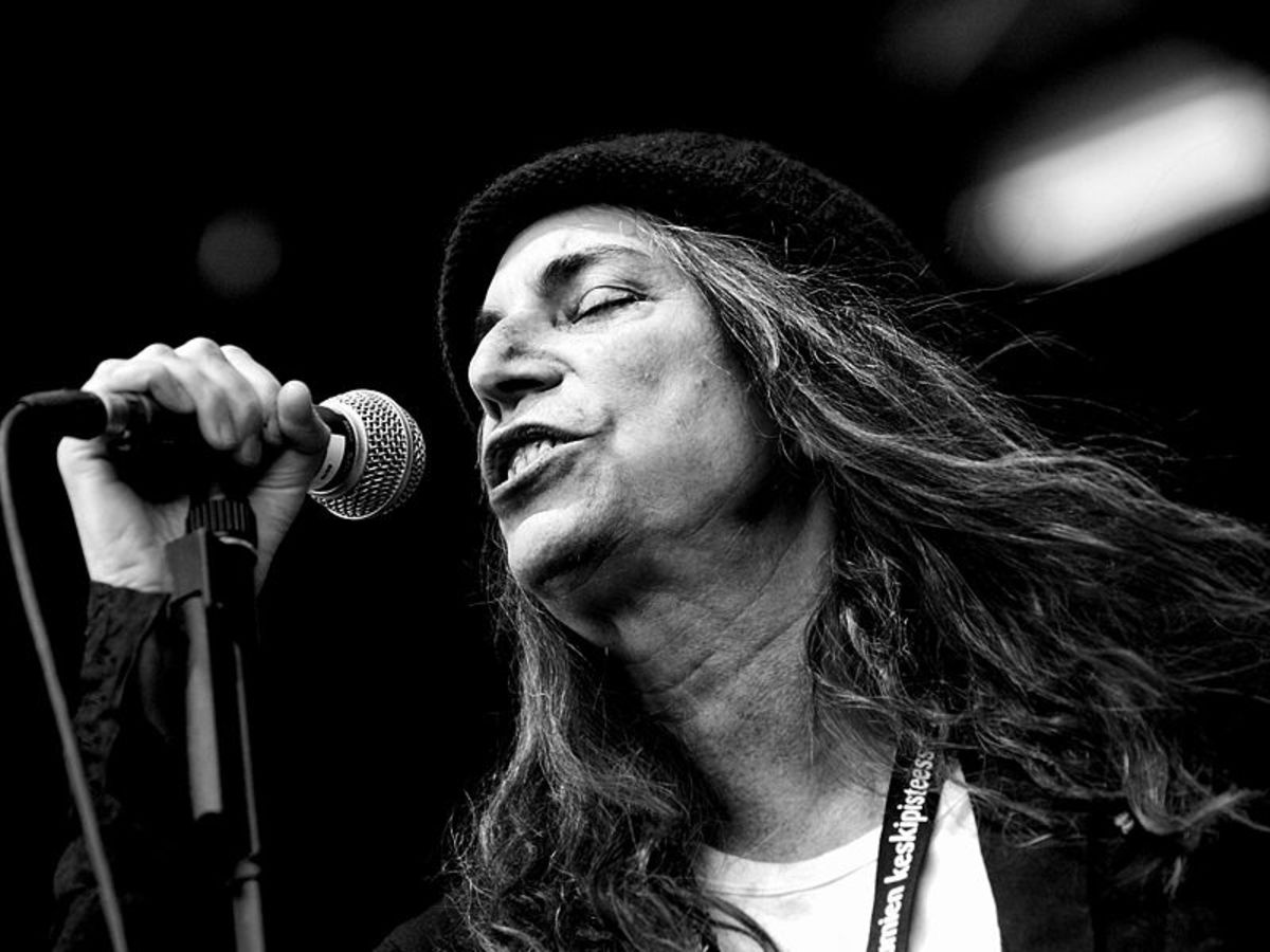 The legendary punk poetess Patti Smith has wrote and sung numerous socially conscious tunes.