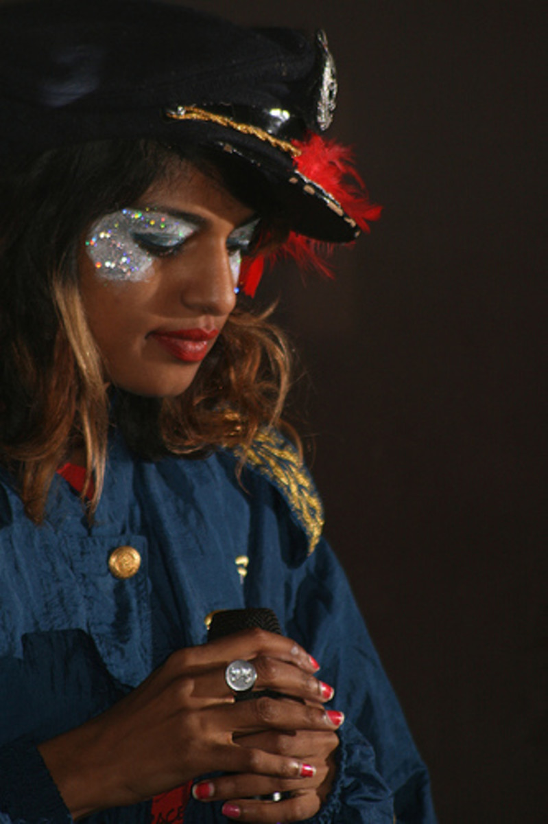 M.I.A. is known for her brand of political music.