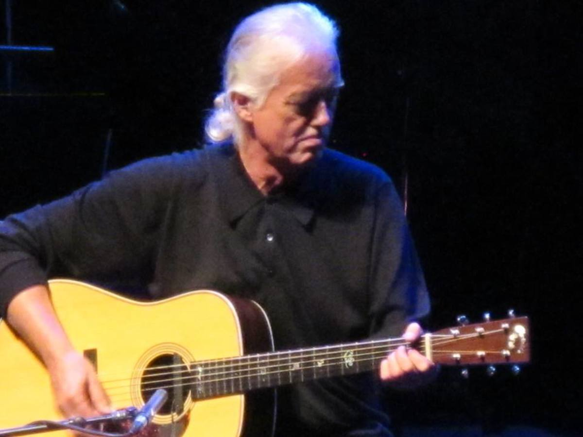 Jimmy Page with a Martin D-28 Marquis made especially for him.
