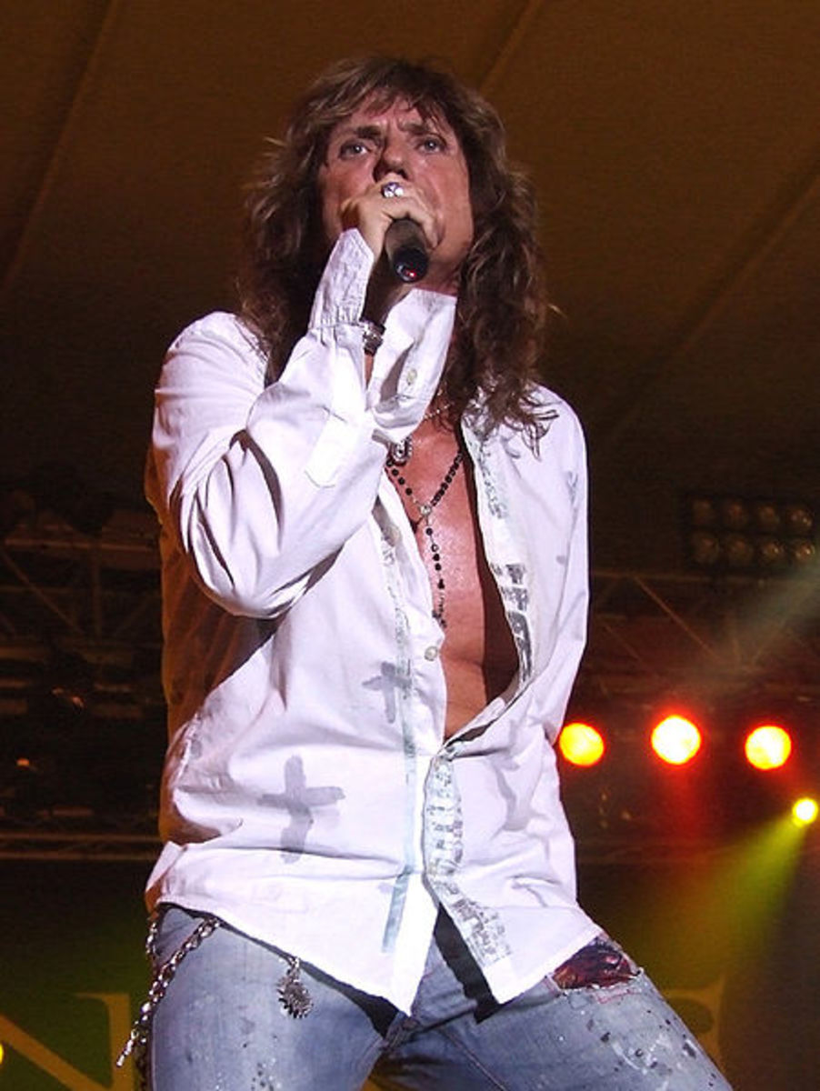 David Coverdale in concert in 2006.