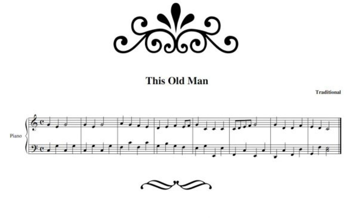 this old man piano sheet music