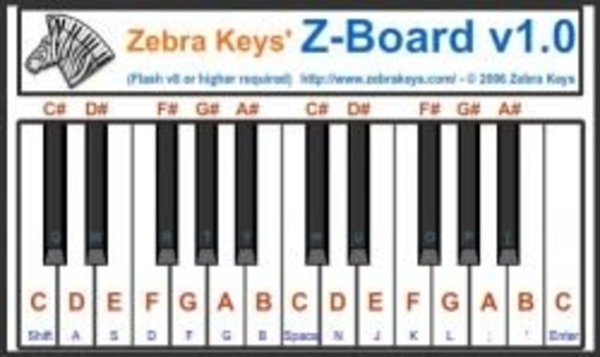 zebre keys piano