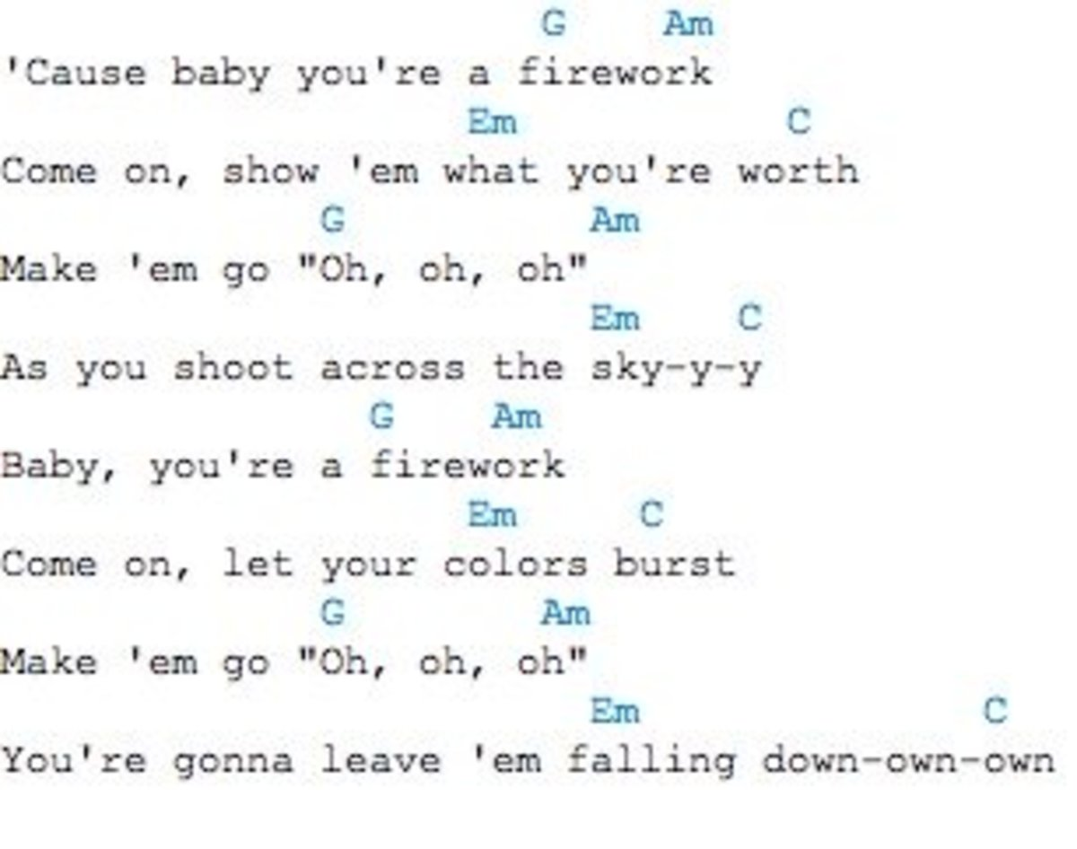 Katy Perry Firework Chords - Info